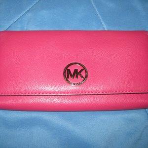 Pink Michael Kors Long Wallet